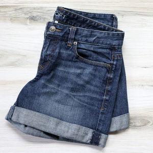 Loft Cuffed Hem Denim Shorts